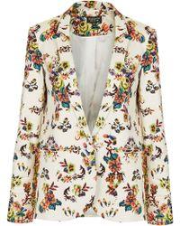 Topshop Pixel Floral Blazer multicolor - Lyst