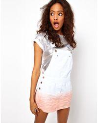 ASOS Collection | Dip Dye Pinafore Dress | Lyst
