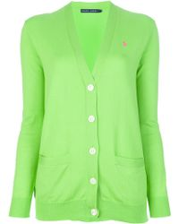 Ralph Lauren Blue Label Button Fastening Cardigan - Lyst