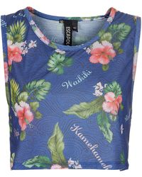 Topshop Floral Crop Vest By Escapology floral - Lyst