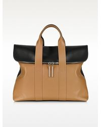 3.1 Phillip Lim 31 Hour Black Nude Leather Tote Bag - Lyst