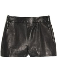 Alexander Wang High Waist Leather Short - Lyst