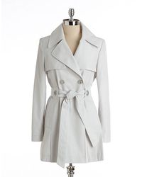 Via Spiga Double breasted Trench Coat - Lyst