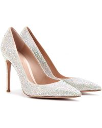 Gianvito Rossi Crystal Embellished Pumps - Lyst