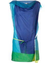 Issey Miyake Tie Waist Dress - Lyst