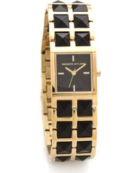 Kenneth Jay Lane Double Stud Bracelet Watch - Lyst