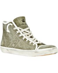 Leather Crown Hitop Trainer - Lyst