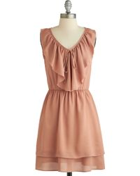 ModCloth Blushing Rose Dress - Lyst