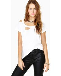 Nasty Gal Rough Rider Tee White - Lyst