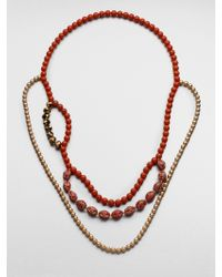 FLorian - Layered Bead Necklace - Lyst