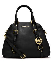 Michael Kors - Large Bedford Pebbled Bowling Satchel - Lyst
