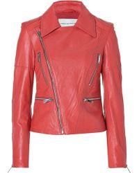 Twenty8Twelve - Leather Ottilie Jacket in Coral - Lyst