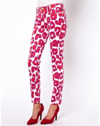 Vivienne Westwood Anglomania For Lee - Leopard Skinny Jeans - Lyst