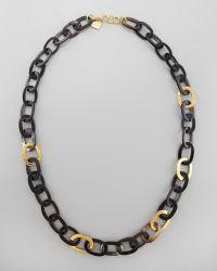 Ashley Pittman Bronze & Horn Link Mara Necklace - Lyst