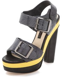 Chrissie Morris - Ida Colorblock Sandals - Lyst