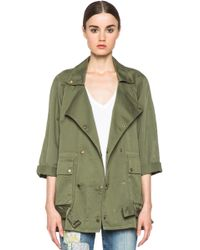 Current/Elliott The Infantry Jacket in Army green - Lyst