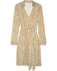 Diane von Furstenberg New Jeanne Printed Silk Jersey Wrap Dress - Lyst
