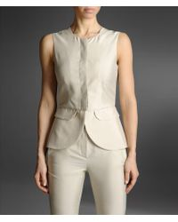 Emporio Armani Silk Vest with Flap Pockets - Lyst