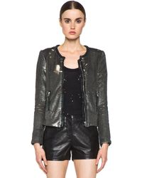 Iro Bush Sequin Jacket in Kaki - Lyst