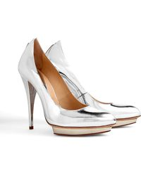 McQ by Alexander McQueen Mercury Metallic Pointy Platform Pumps - Lyst