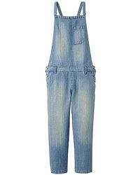 Uniqlo Linen Blended Denim Overalls B - Lyst