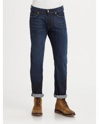 7 For All Mankind Slimmy Slim Straight-Leg Jeans - Lyst