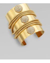 ABS By Allen Schwartz - Paveacute Stone Chain Cuff Bracelet - Lyst