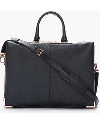 Alexander Wang - Black Pebbled Leather Prisma Skeletal Briefcase - Lyst