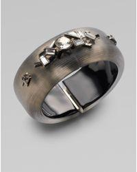 Alexis Bittar Swarovski Crystal Accented Lucite Bangle Bracelet - Lyst