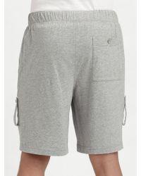 American Essentials - Organic Cotton Drawstring Shorts - Lyst