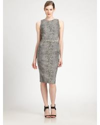 Antonio Berardi Belted Printed Dress - Lyst