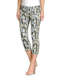 Armani Jeans Five Pockets Cropped Trousers - Lyst