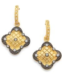 Belargo - Quilted Clover Earrings - Lyst