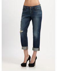 J Brand - Aidan Cropped Boyfriend Jeans - Lyst