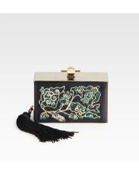 Jason Wu Embellished Satin Box Clutch - Lyst