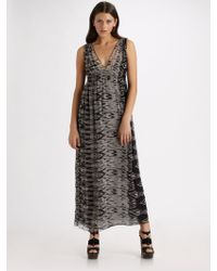 Joie Ornella Silk Georgette Maxi Dress - Lyst