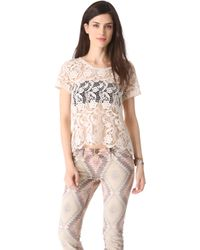 Joie Devine Crochet Lace Top - Lyst