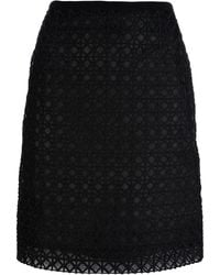 Moschino Semi-sheer Pencil Skirt - Lyst