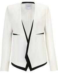 Narciso Rodriguez Monochrome Tuxedo Jacket - Lyst