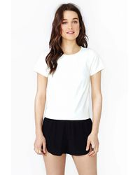 Nasty Gal Echo Tee White - Lyst