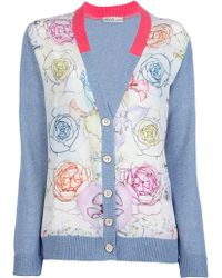 Swash London - Print Panel Cardigan - Lyst