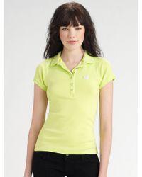 Twisted Heart - Rhinestone Heart Polo Shirt - Lyst