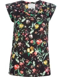 3.1 Phillip Lim Floral Printed Top - Lyst