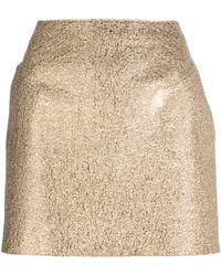 3.1 Phillip Lim Metallic Mini Skirt - Lyst