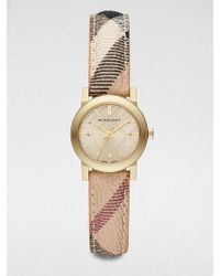 Burberry Goldtone Stainless Steel Round Watch/26Mm - Lyst