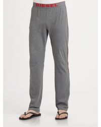 Diesel Cotton Lounge Pants - Lyst