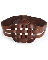 French Connection - Hanshaw Leather Belt - Lyst