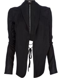Lost & Found - Knot Detail Asymmetric Jacket - Lyst