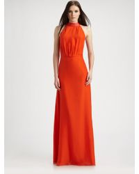 Raoul Silk and Leather Gown - Lyst