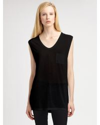 T By Alexander Wang Classic Muscle Tank - Lyst